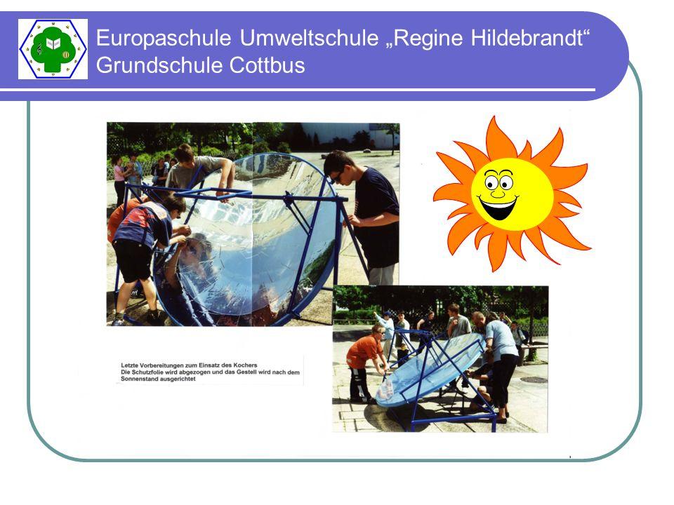 - am 27.06.2002 laden die Sechstklässler die Schüler aus den Klassen 1 - 3 zu einem Sonnenerlebnistag ein - hier präsentieren sie ihr Wissen und Können, führen Versuche durch und stellen ihre Solarkocher vor