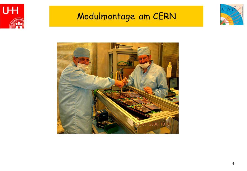 4 Modulmontage am CERN