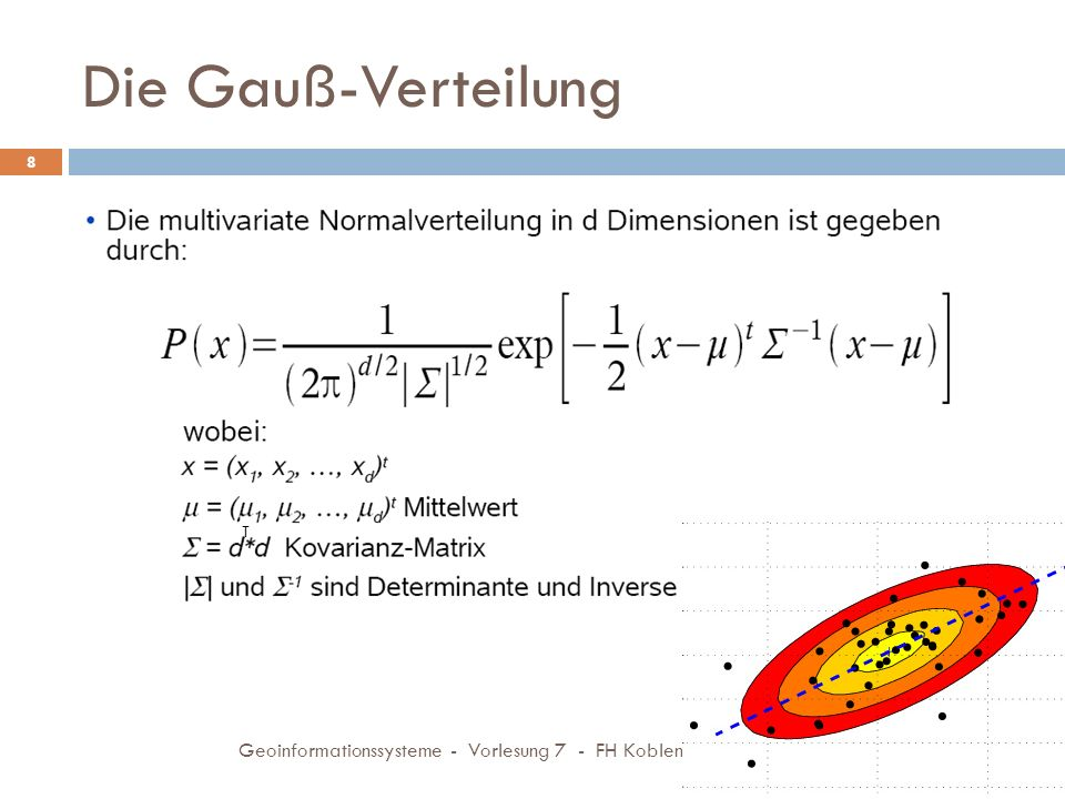 Die Gauß-Verteilung 23.11.2009 Geoinformationssysteme - Vorlesung 7 - FH Koblenz 8 T