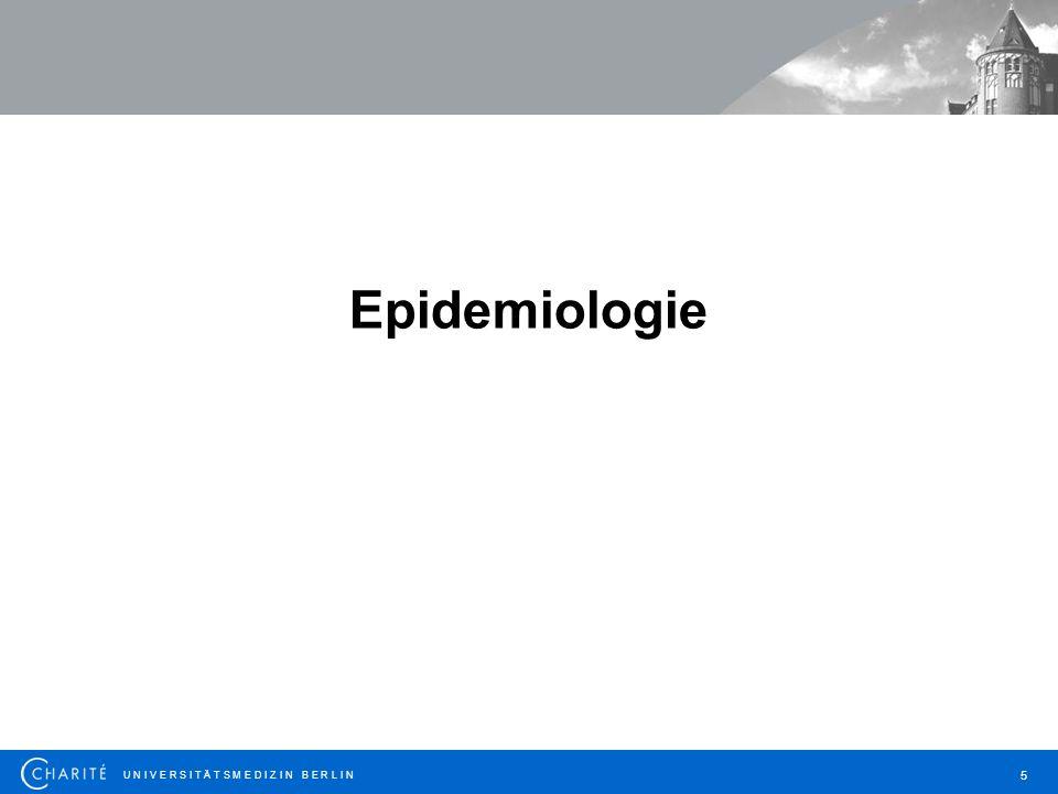 U N I V E R S I T Ä T S M E D I Z I N B E R L I N 6 epi = über, demos = Bevölkerung, logos = Lehre Epidemiologie: Lehre von der Bevölkerung Die Verteilung von Krankheiten, deren Determinanten (bestimmende Faktoren) und deren Folgen in der Bevölkerung Epidemiologie