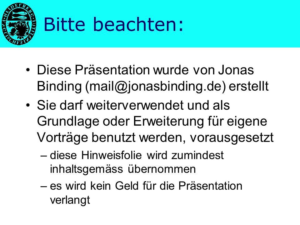 "PowerPoint – Präsentationen Kolloquium im Seminarkurs ""Rhetorik und Kommunikation Jonas Binding"