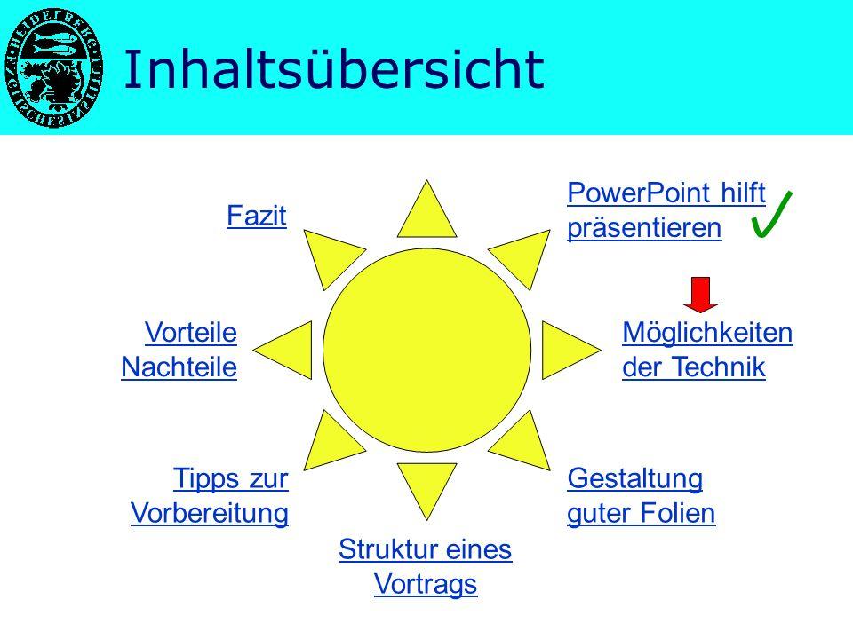 Nutzen von PowerPoint Vorträge sind überall –Schule (z.B.