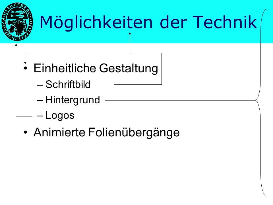 Möglichkeiten der Technik Struktur eines Vortrags Gestaltung guter Folien Vorteile Nachteile Fazit Tipps zur Vorbereitung PowerPoint hilft präsentieren Inhaltsübersicht