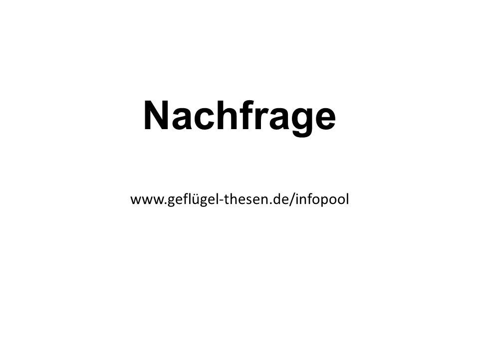 Nachfrage www.geflügel-thesen.de/infopool