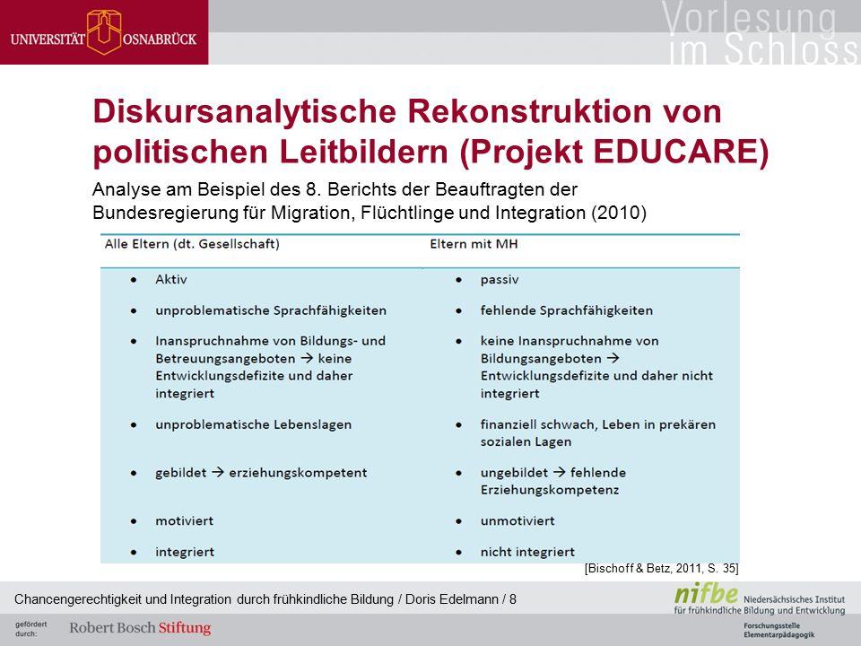 Diskursanalytische Rekonstruktion von politischen Leitbildern (Projekt EDUCARE) Analyse am Beispiel des 8. Berichts der Beauftragten der Bundesregieru