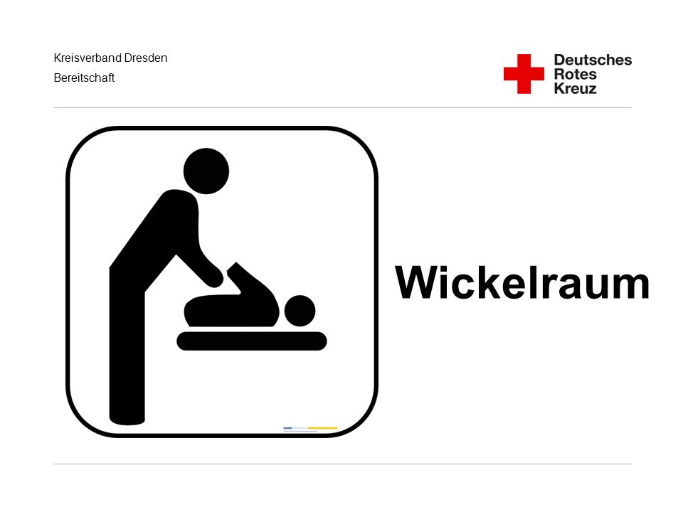 Kreisverband Dresden Bereitschaft Wickelraum