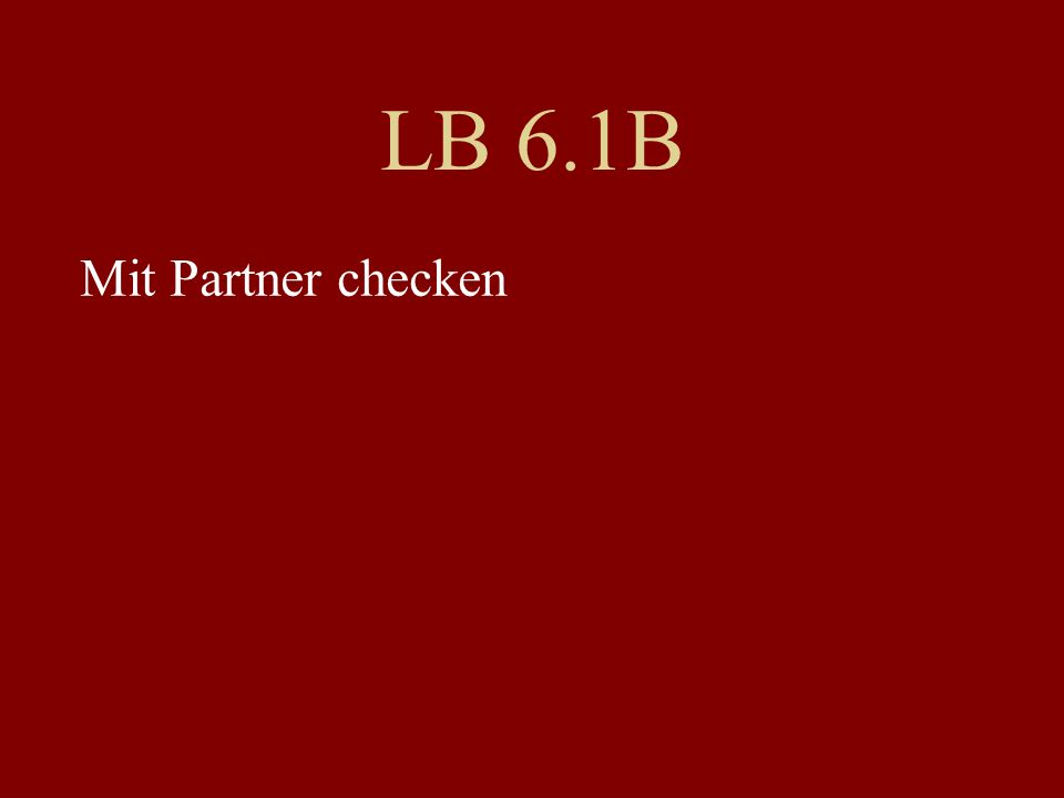 LB 6.1B Mit Partner checken