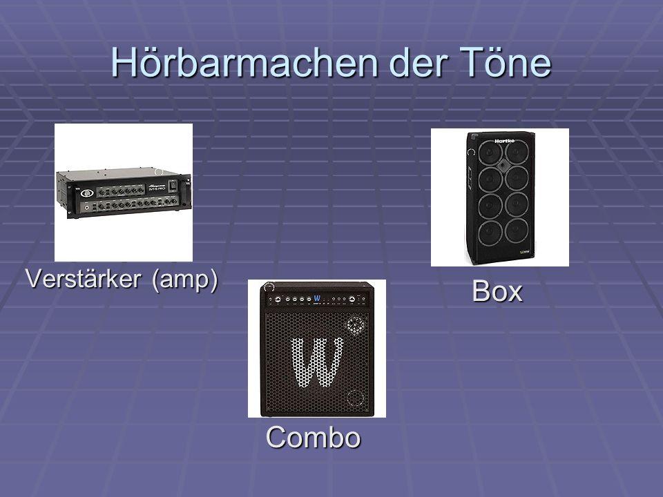 Hörbarmachen der Töne Verstärker (amp) Combo Box