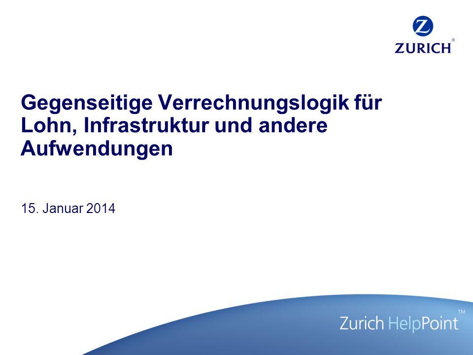 Gegenseitige Verrechnungslogik für Lohn, Infrastruktur und andere Aufwendungen 15. Januar 2014