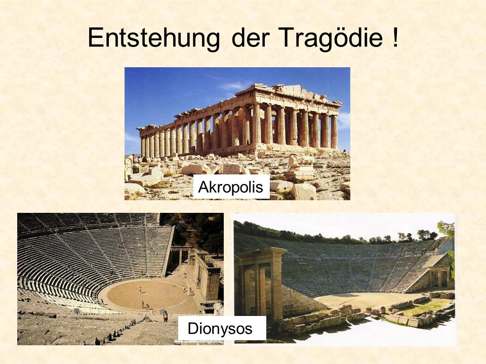 Entstehung der Tragödie ! Akropolis Dionysos