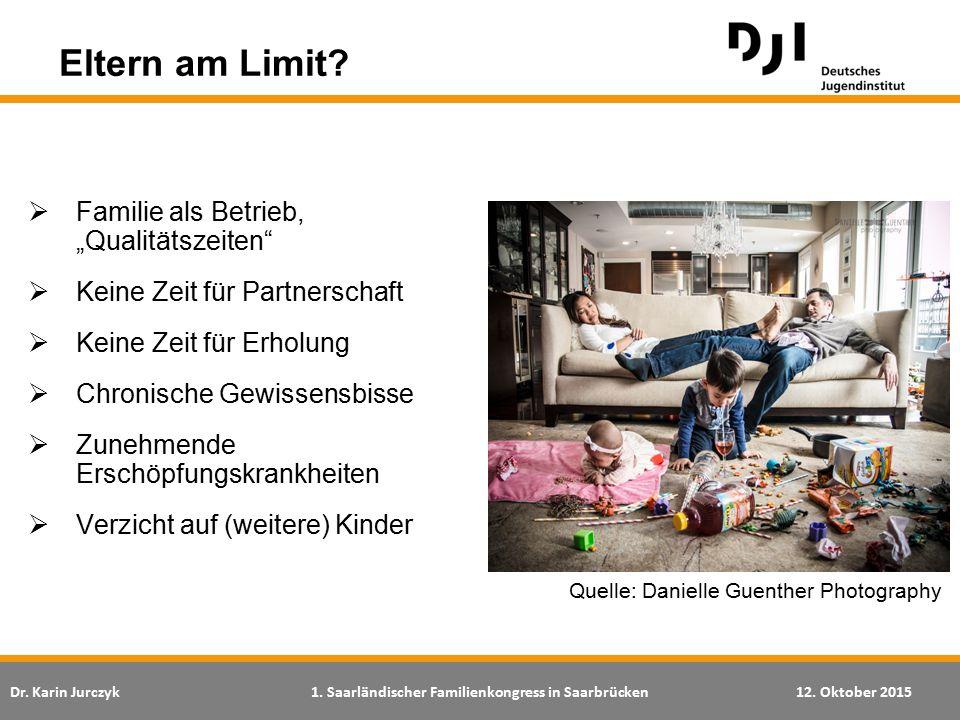 """Dr. Karin Jurczyk1. Saarländischer Familienkongress in Saarbrücken12. Oktober 2015  Familie als Betrieb, """"Qualitätszeiten""""  Keine Zeit für Partnersc"""