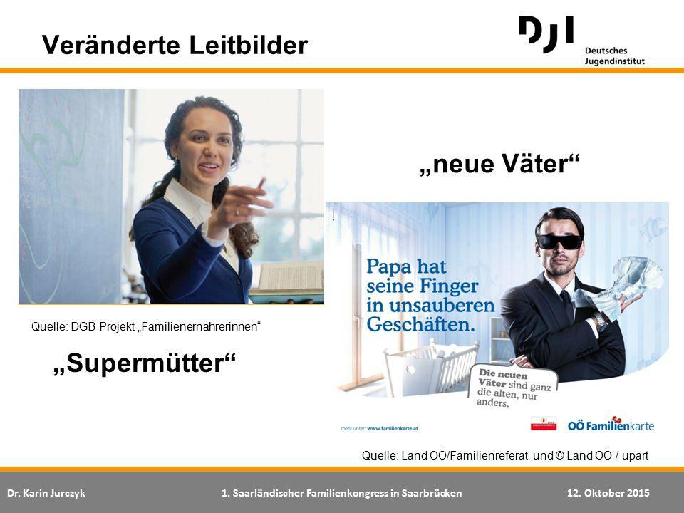 Dr. Karin Jurczyk1. Saarländischer Familienkongress in Saarbrücken12. Oktober 2015 Veränderte Leitbilder Quelle: Land OÖ/Familienreferat und © Land OÖ