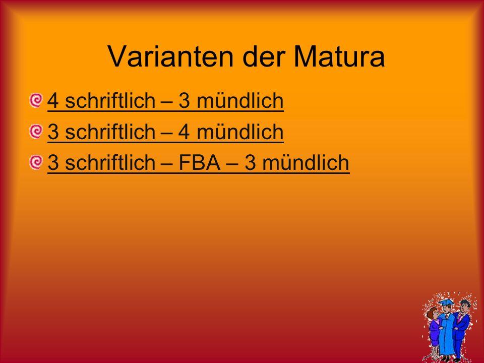 Matura Variante A Schriftlich Mathematik D E od.F/L PH od.