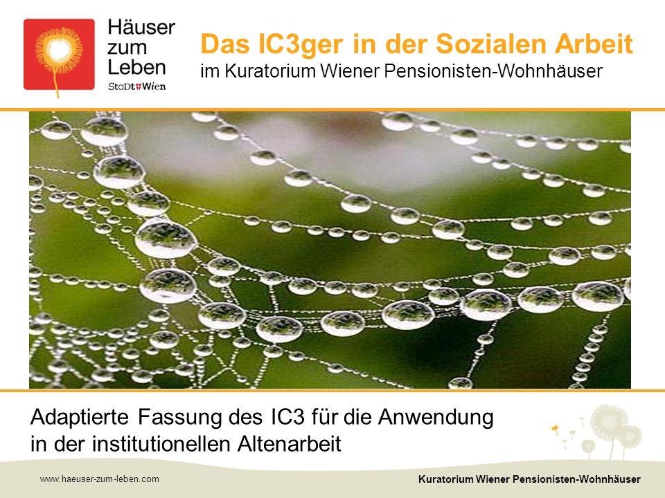 www.haeuser-zum-leben.com Kuratorium Wiener Pensionisten-Wohnhäuser 12