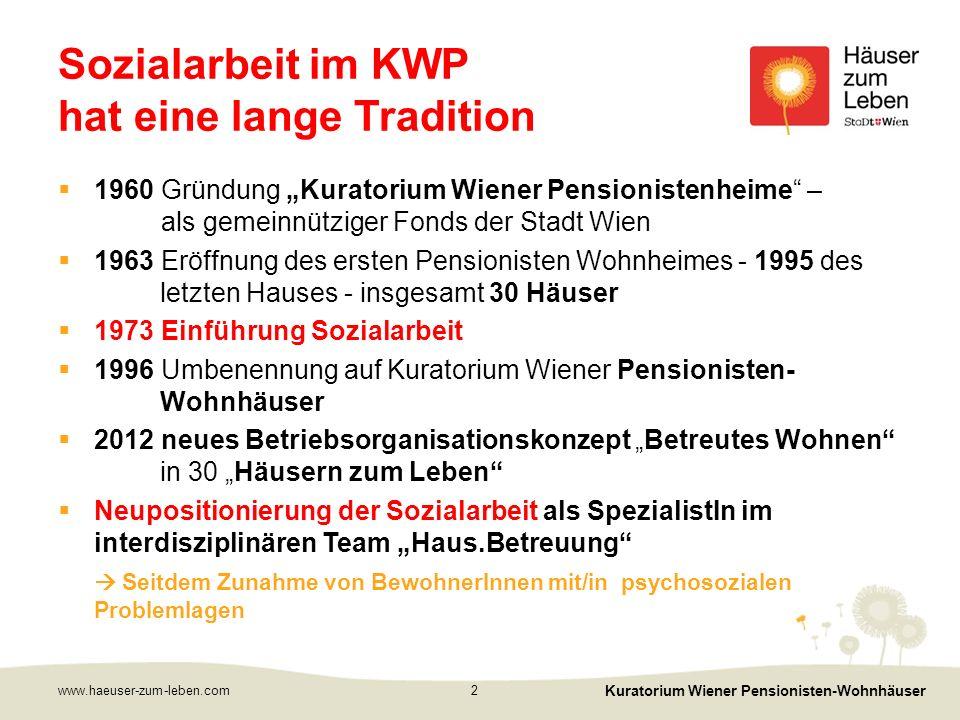 www.haeuser-zum-leben.com Kuratorium Wiener Pensionisten-Wohnhäuser 3