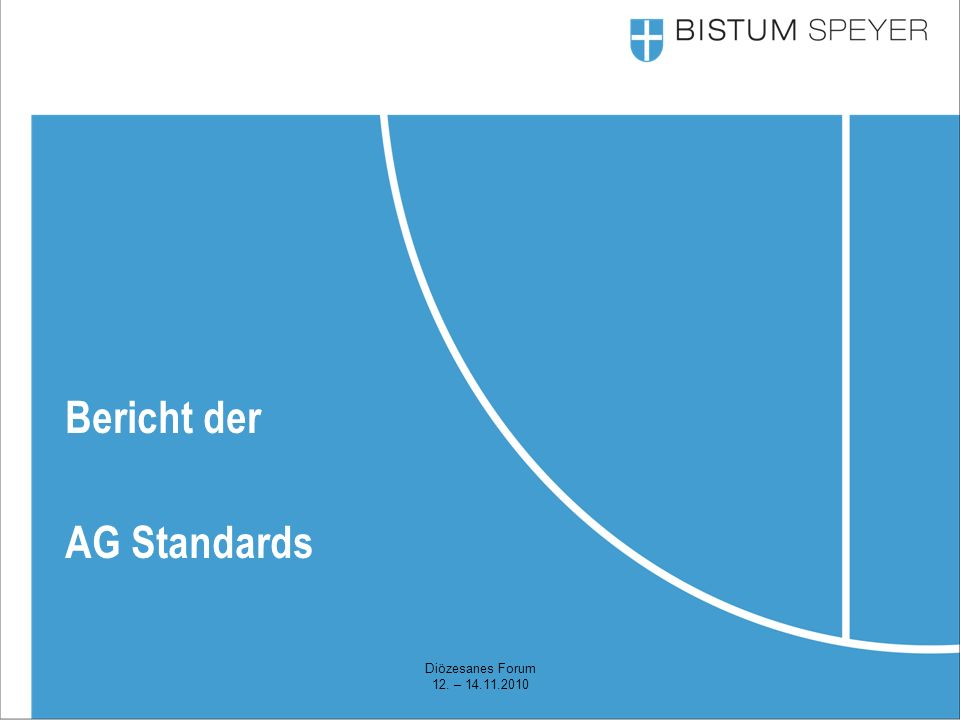 Diözesanes Forum 12. – 14.11.2010 Bericht der AG Standards