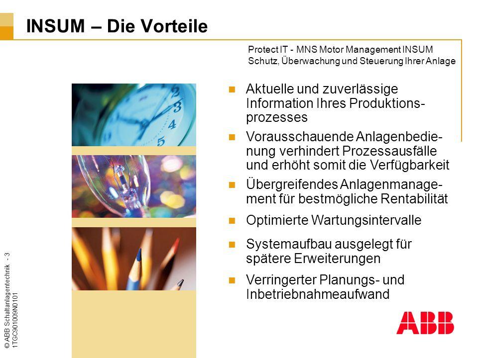 © ABB Schaltanlagentechnik - 14 1TGC901009N0101