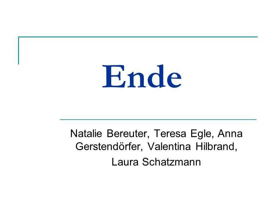 Ende Natalie Bereuter, Teresa Egle, Anna Gerstendörfer, Valentina Hilbrand, Laura Schatzmann