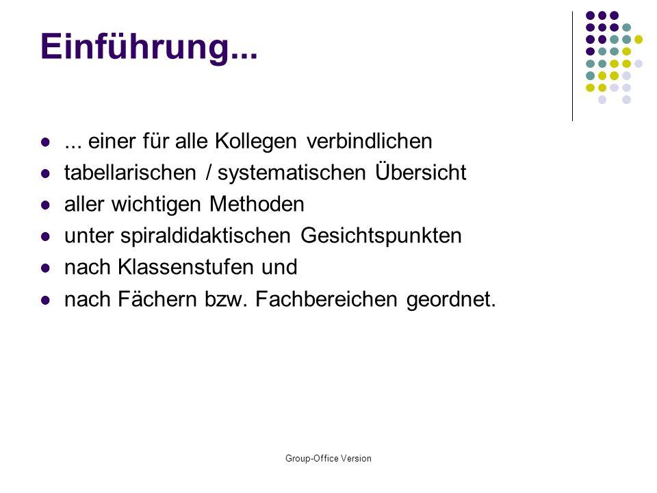 Group-Office Version Einführung......