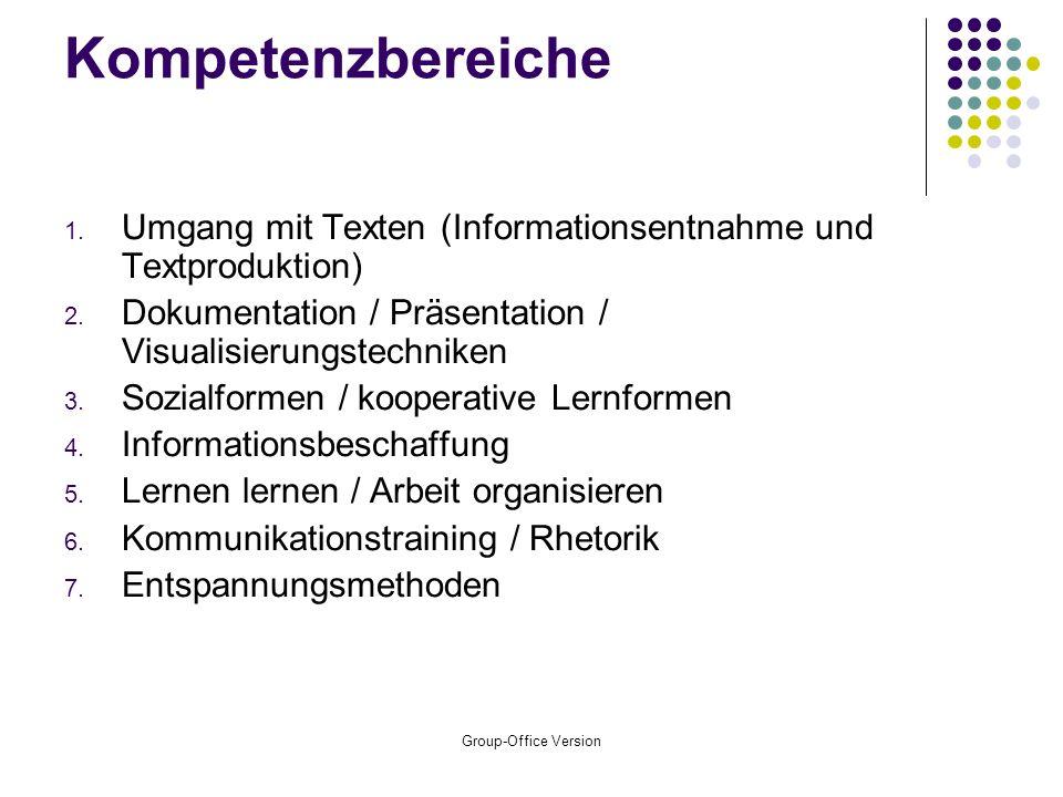 Group-Office Version Kompetenzbereiche 1.
