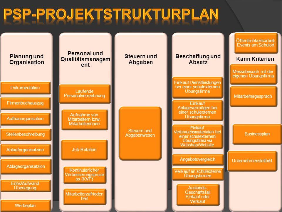 Planung und Organisation DokumentationFirmenbuchauszugAufbauorganisationStellenbeschreibungAblauforganisatzion Ablageorganisatzion Erlös/Aufwand Überl