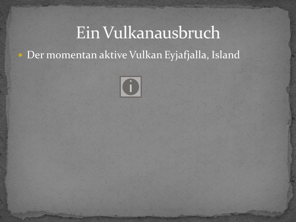 Der momentan aktive Vulkan Eyjafjalla, Island