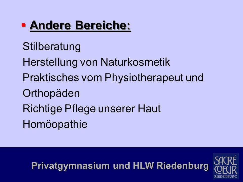 Privatgymnasium und HLW Riedenburg Impfpasskontrolle Finanzführerschein Besuch einer Arztpraxis Exkursionen zur Firma Metzler in Egg Aqua-Mountain in Lingenau Biohof in Meiningen Lebensmitteluntersuchungsanstalt Amazone Mädchenzentrum