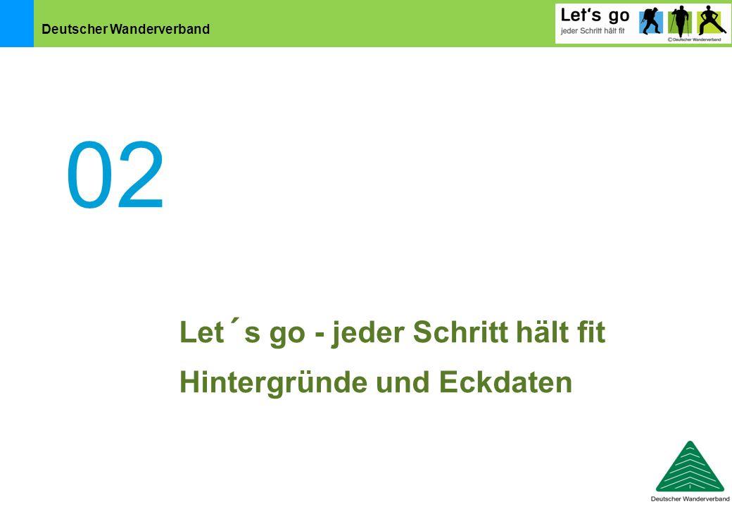 Deutscher Wanderverband 02 Let´s go - jeder Schritt hält fit Hintergründe und Eckdaten