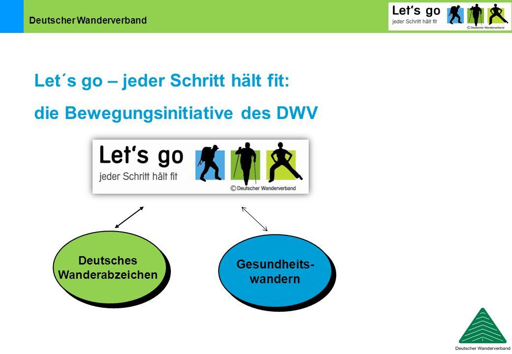 Deutscher Wanderverband Deutsches Wanderabzeichen Let´s go – jeder Schritt hält fit: die Bewegungsinitiative des DWV Gesundheits- wandern