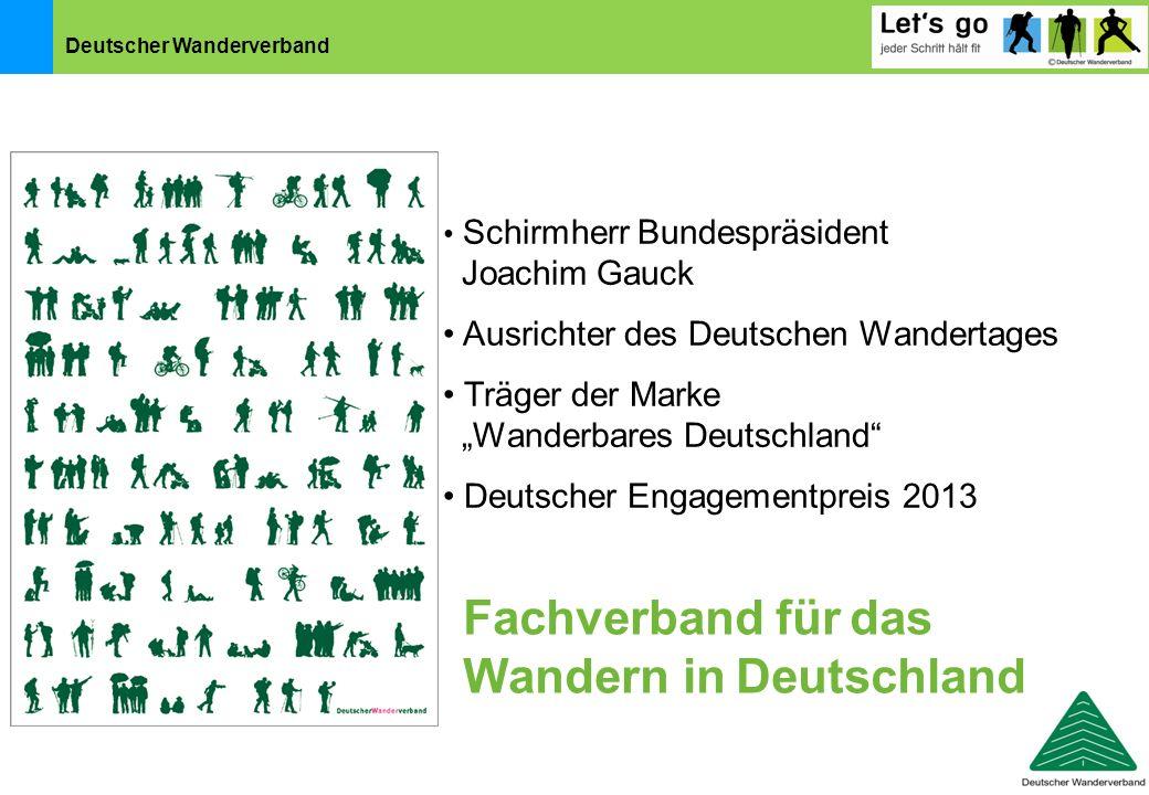 """Deutscher Wanderverband Schirmherr Bundespräsident Joachim Gauck Ausrichter des Deutschen Wandertages Träger der Marke """"Wanderbares Deutschland"""" Deuts"""