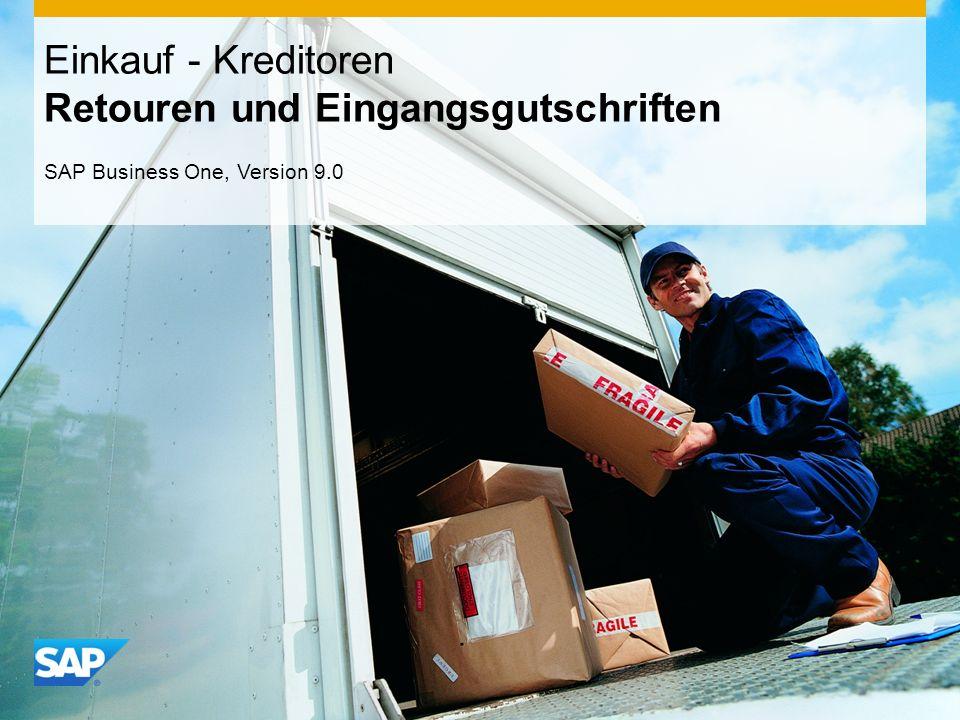 INTERN Einkauf - Kreditoren Retouren und Eingangsgutschriften SAP Business One, Version 9.0
