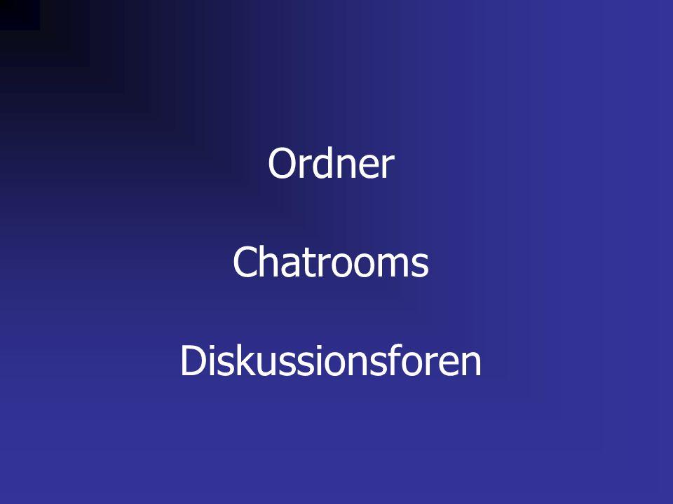 Ordner Chatrooms Diskussionsforen