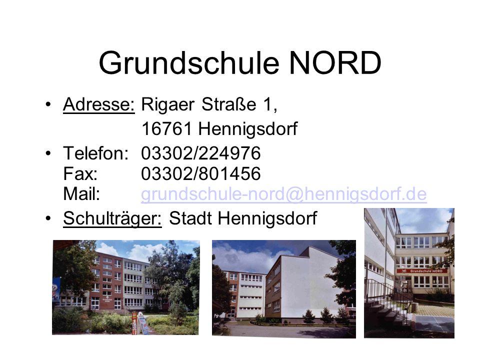 Lage der Schule Grundschule NORD