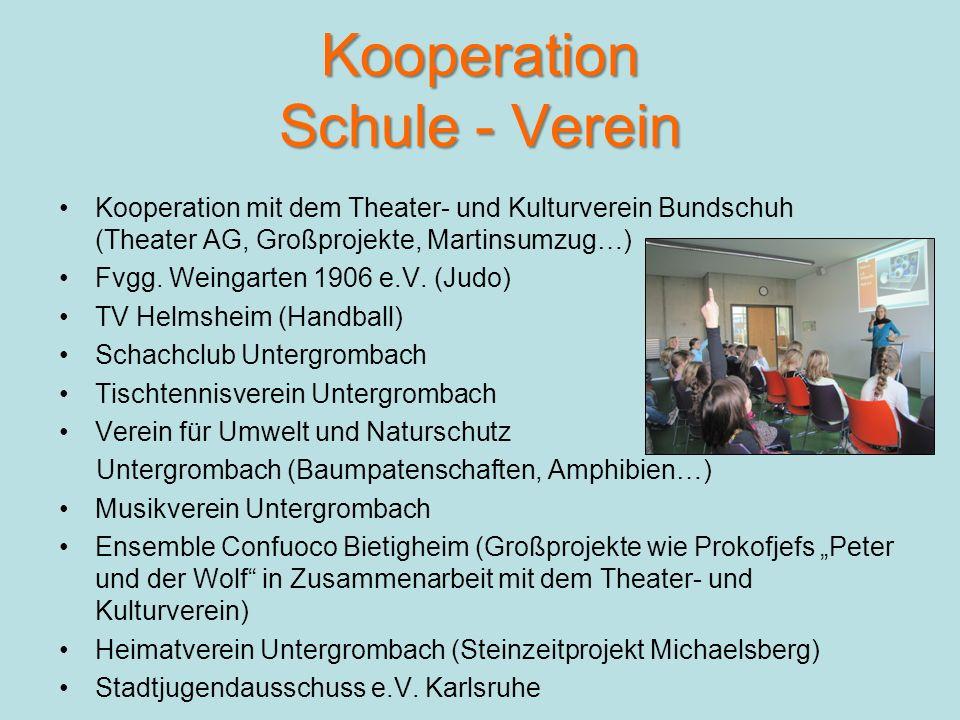 Kooperation Schule - Verein Kooperation mit dem Theater- und Kulturverein Bundschuh (Theater AG, Großprojekte, Martinsumzug…) Fvgg.