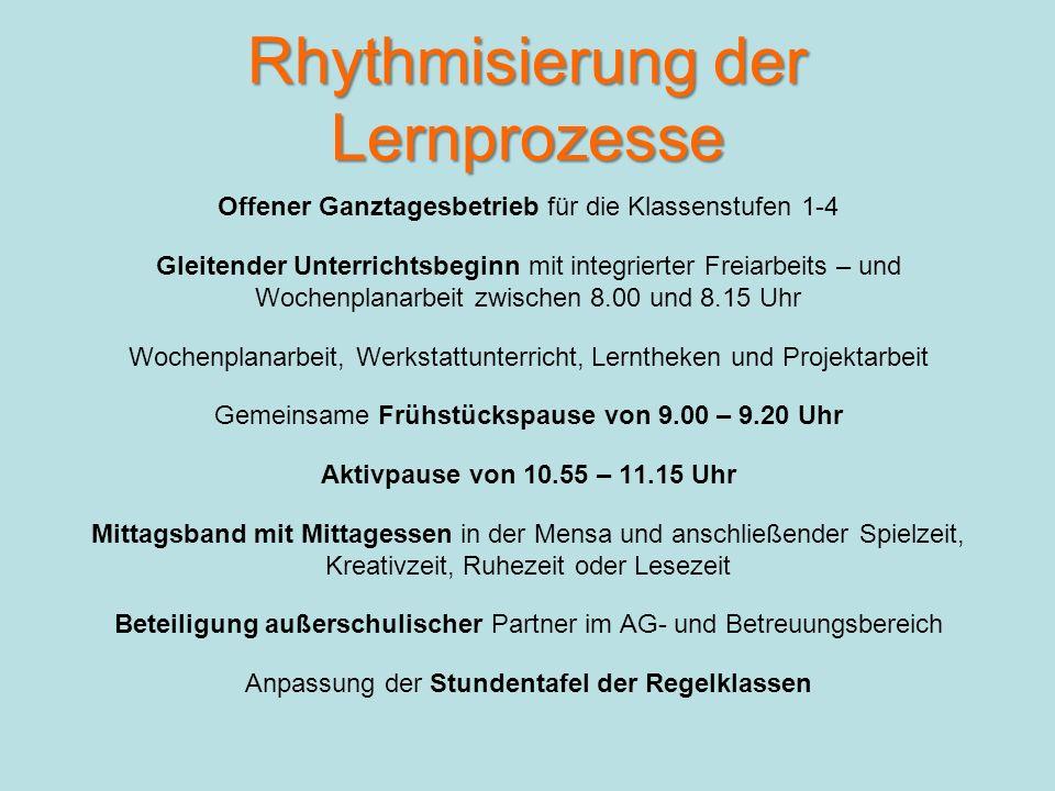 Rhythmisierung bzw.
