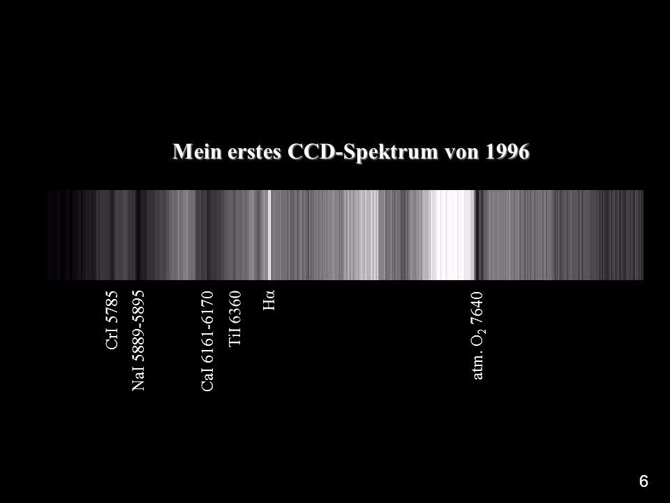Mein erstes CCD-Spektrum von 1996 atm.