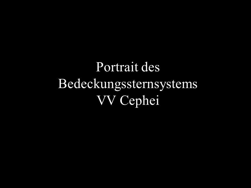 Portrait des Bedeckungssternsystems VV Cephei