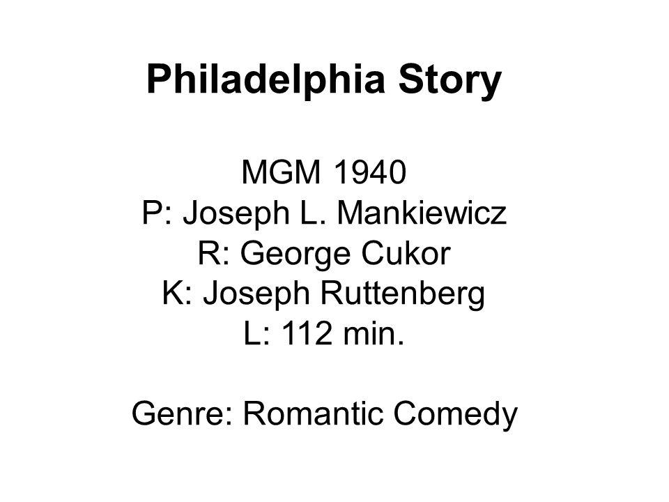 Philadelphia Story MGM 1940 P: Joseph L.