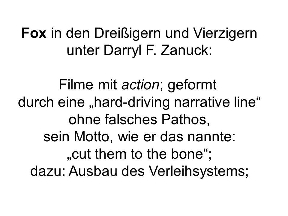 Fox in den Dreißigern und Vierzigern unter Darryl F.