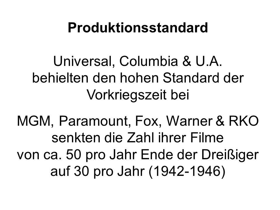 Produktionsstandard Universal, Columbia & U.A.