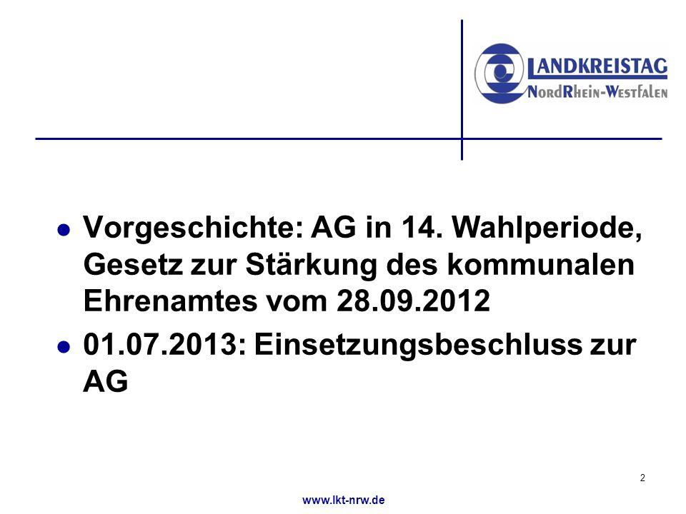 www.lkt-nrw.de Vorgeschichte: AG in 14.