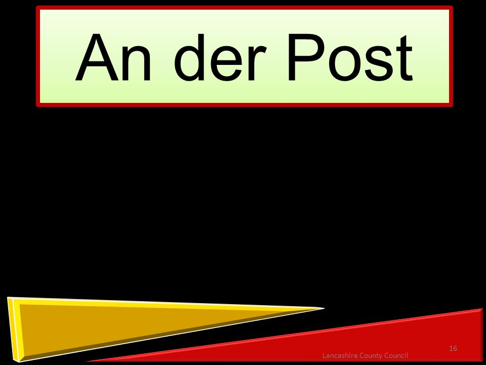 An der Post 16 Lancashire County Council