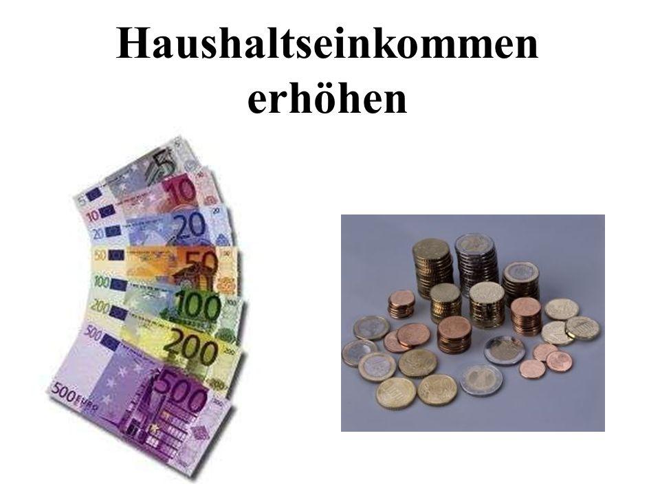 Haushaltseinkommen erhöhen