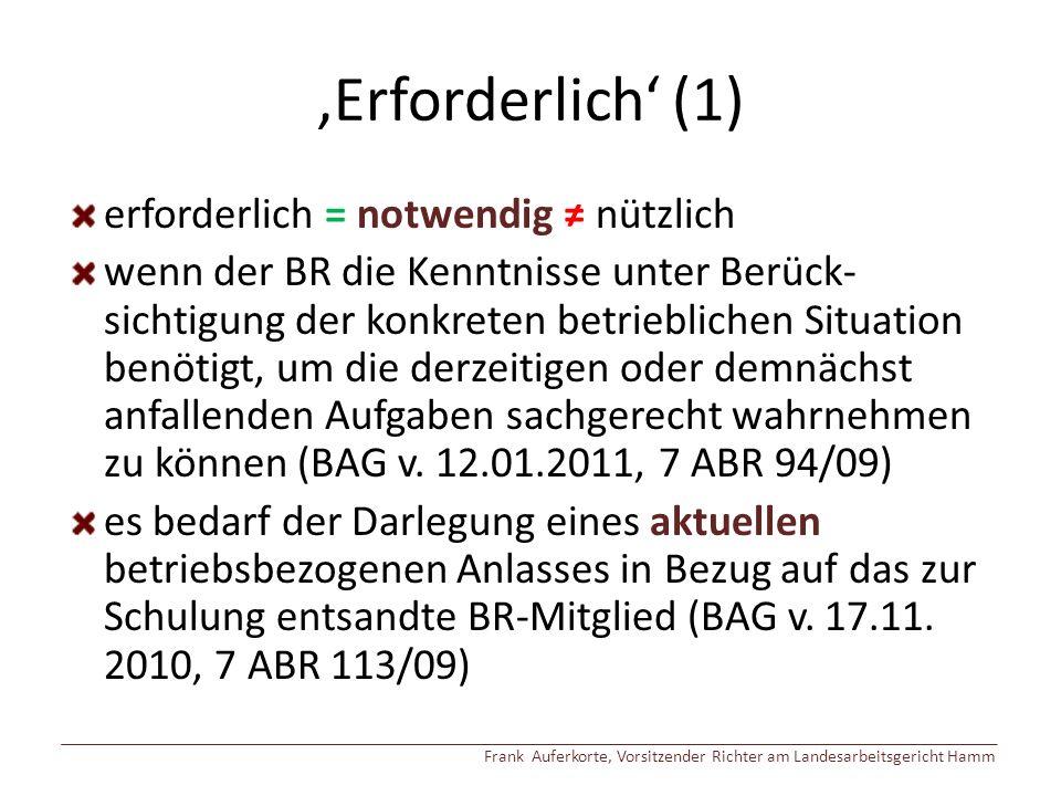'Erforderlich' (2) sog.