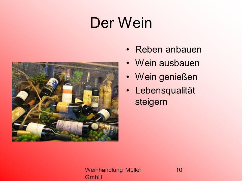 10 Der Wein Reben anbauen Wein ausbauen Wein genießen Lebensqualität steigern