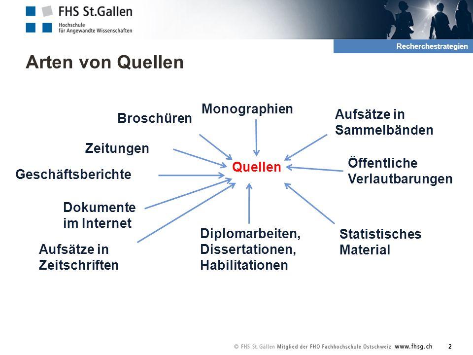 Arten von Quellen 3 2.Recherche und Quellen was?wo.