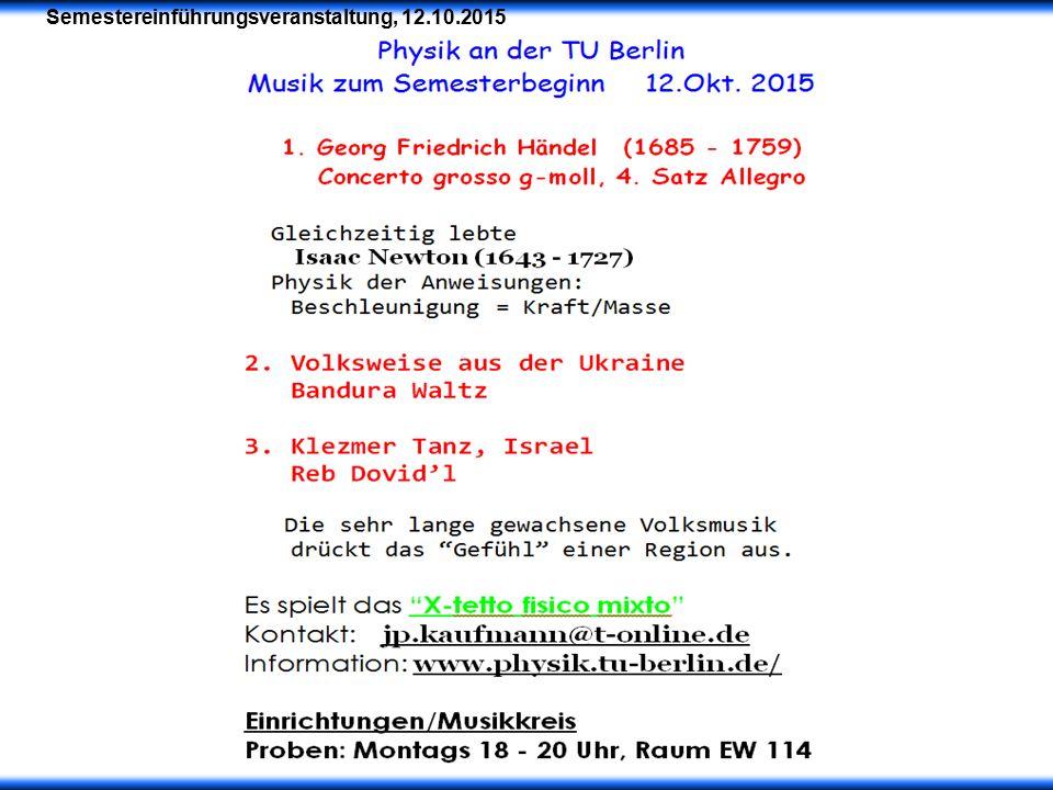 Die physikalischen Anfängerpraktika an der TU Berlin Eisebitt, Sahm, Woggon & Möller Institut für Optik und Atomare Physik Organisation und Ablauf im Projektlabor