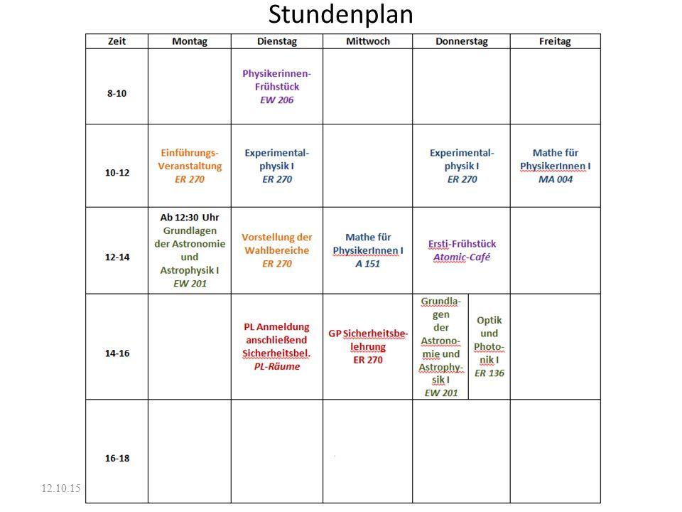 Stundenplan 12.10.15 c c c
