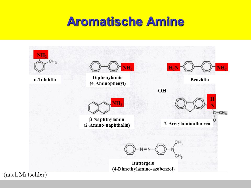 N-Nitroso-Verbindungen N-N=O DimethylnitrosaminN-Nitroso-N-methylharnstoff (nach Mutschler)