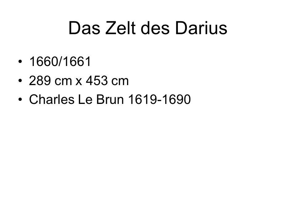 Das Zelt des Darius 1660/1661 289 cm x 453 cm Charles Le Brun 1619-1690